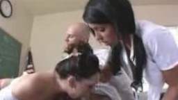 School Girl sucks while getting her pussy licked